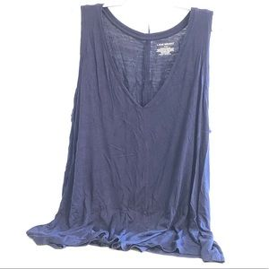 Lane Bryant 14/16 Navy Blue V-neck Tank